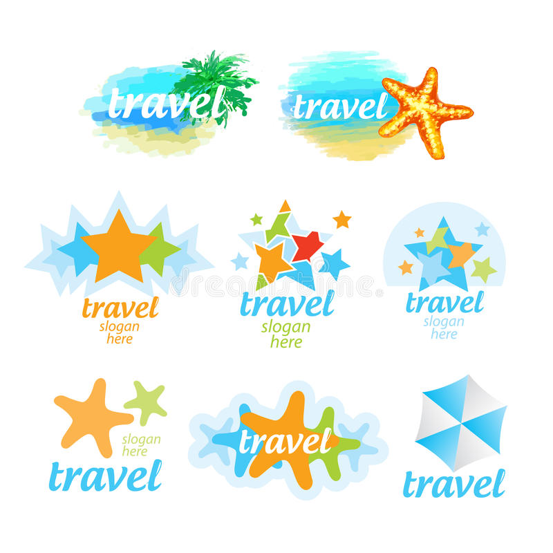 Download Logos For The Travel And Tourism Stock Vector - Illustration of heat, logo: 30727890