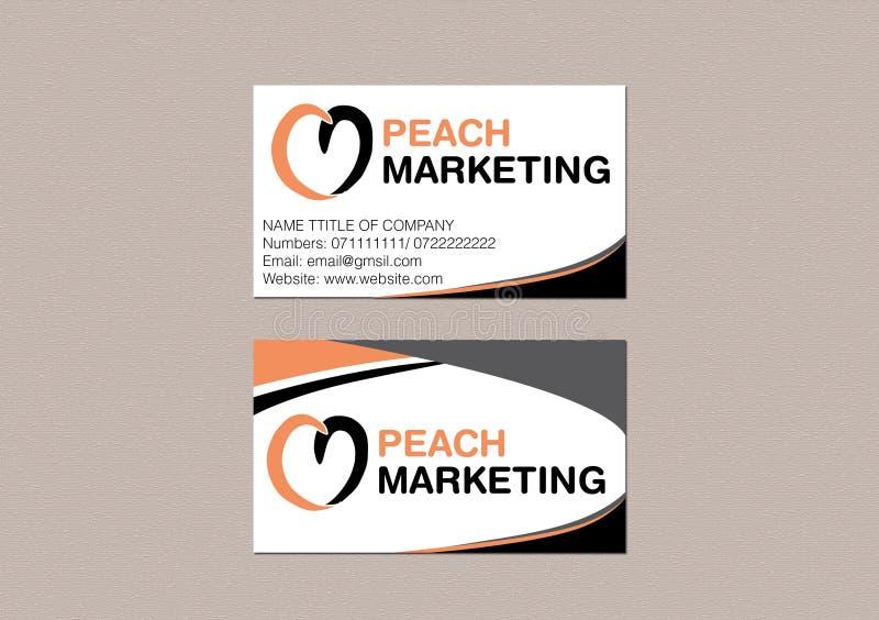 Visitenkarte Front Und Rückseiten Design Vektor Abbildung