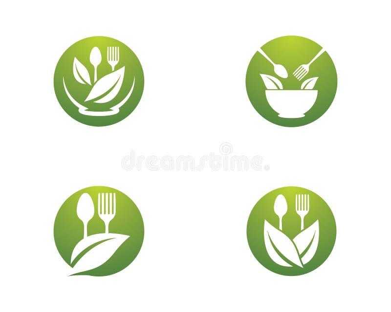 Logoschablone des biologischen Lebensmittels lizenzfreie abbildung