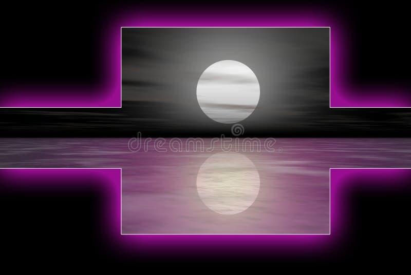 logoset fioletowego wody ilustracji