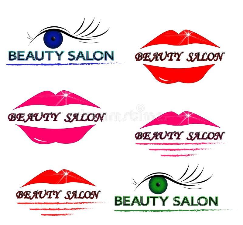 Logoskönhetsalong vektor illustrationer