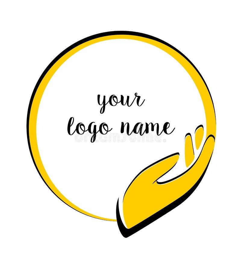 Logosorgfalt, Hilfe, Schutz, Sonne, Liebe lizenzfreie abbildung
