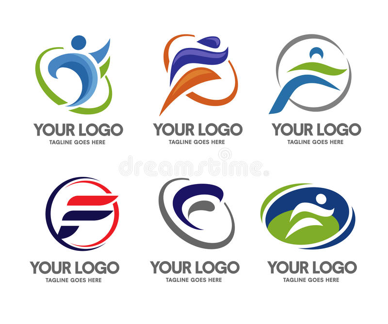 Logosport för bokstav F royaltyfri illustrationer