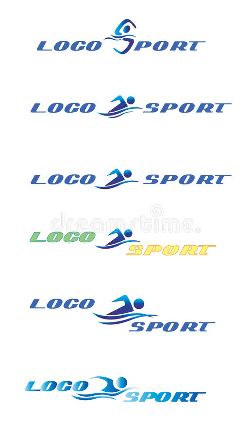 logosportsimning royaltyfri illustrationer
