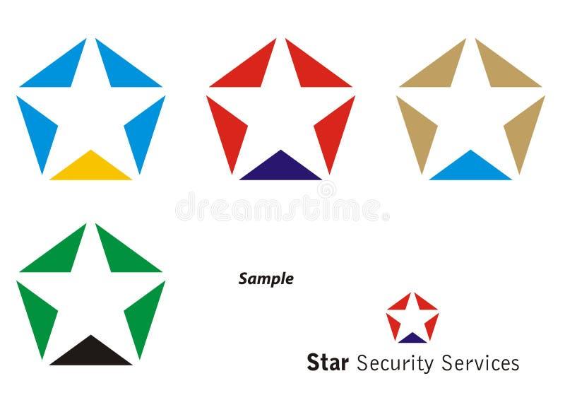logostjärna vektor illustrationer