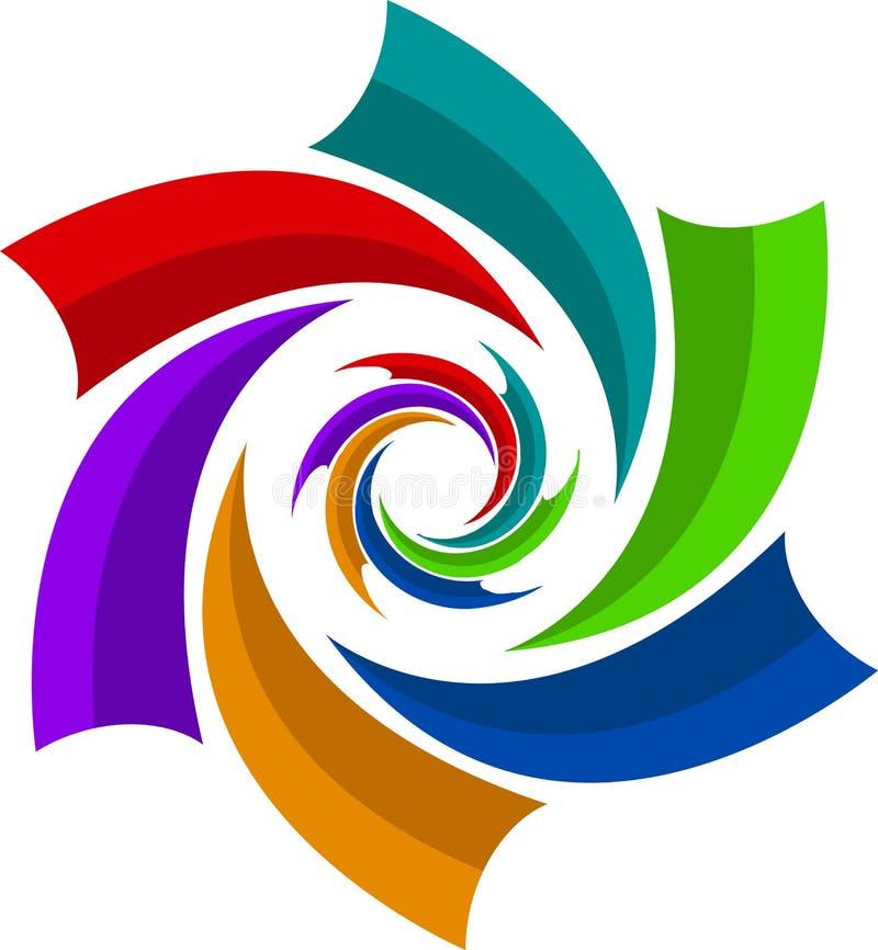 logoswirl vektor illustrationer