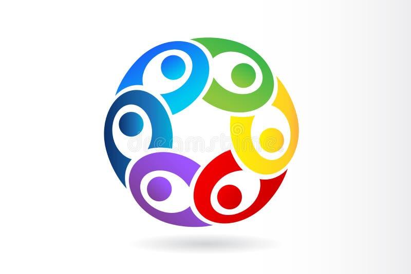 Logoteamwork-Verbandsleute-Vektorentwurf stock abbildung