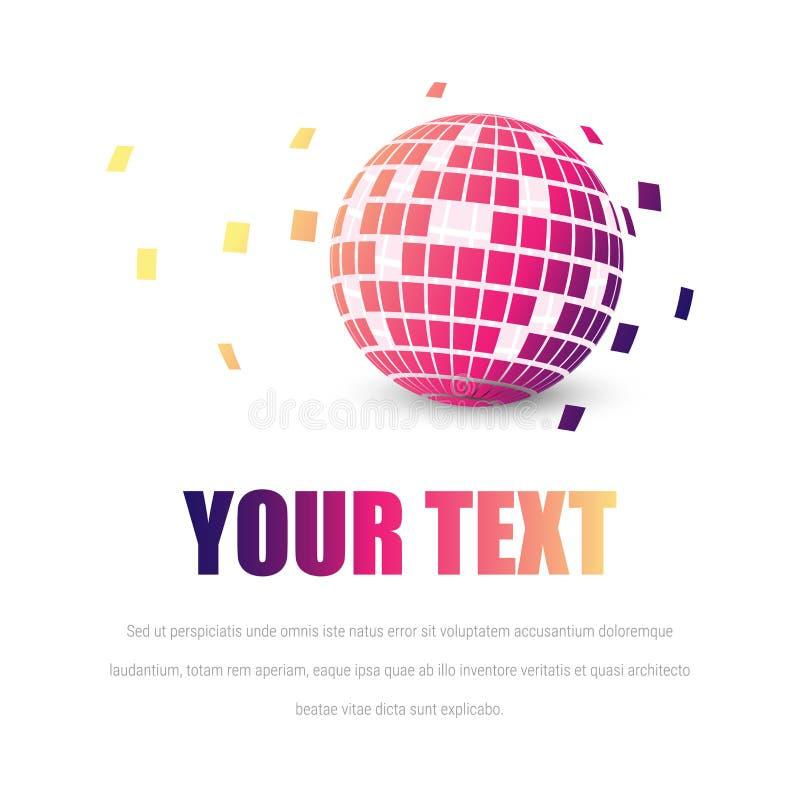 Logotipe сферы красочное на белой предпосылке разветвляя бесплатная иллюстрация