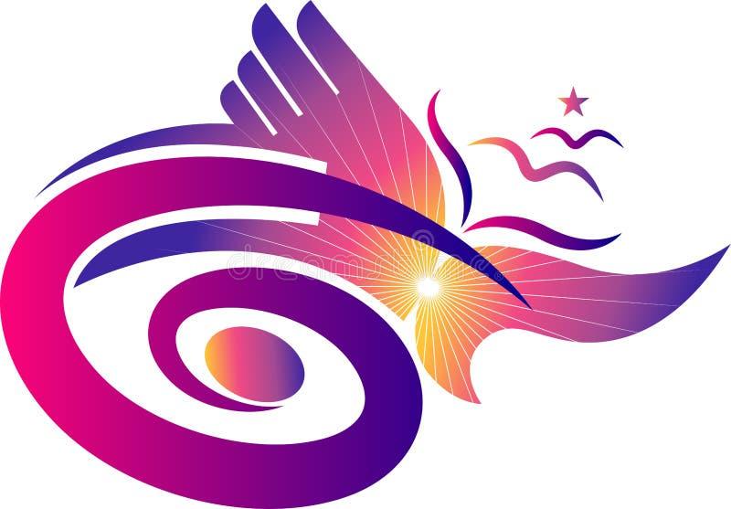 Logotipo à moda da liberdade ilustração do vetor