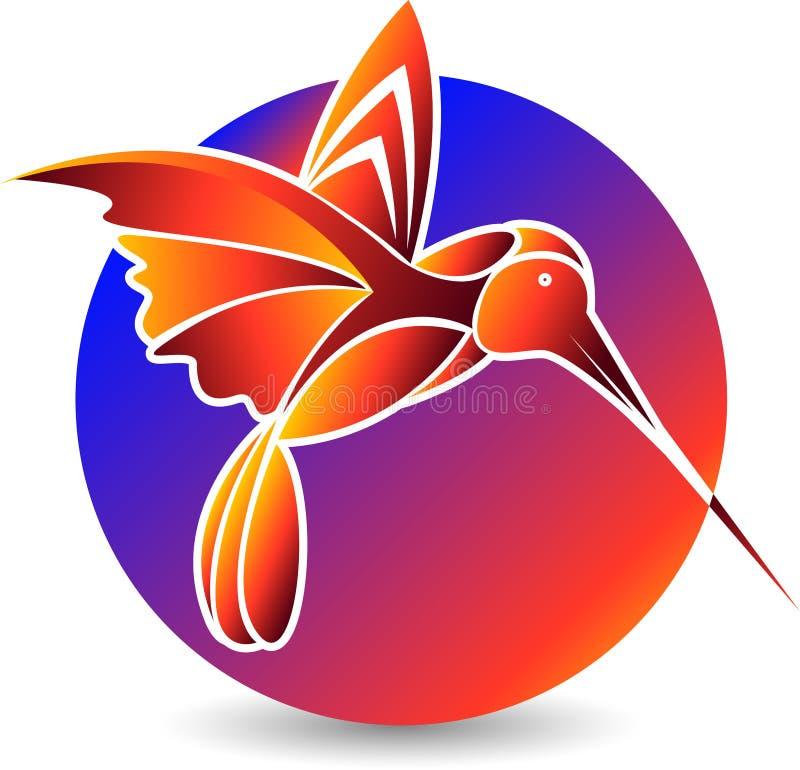 Logotipo à moda do pássaro ilustração stock