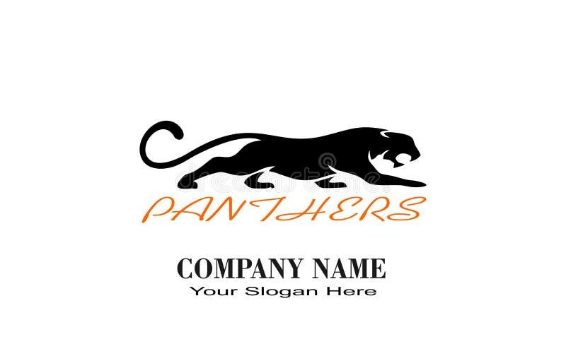 Logotipo único creativo del diseño de las PANTERAS libre illustration