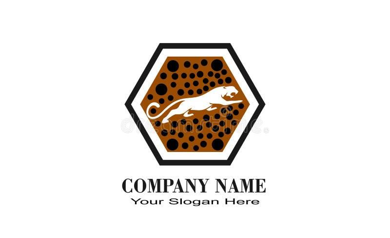 logotipo único creativo del diseño del tigre stock de ilustración