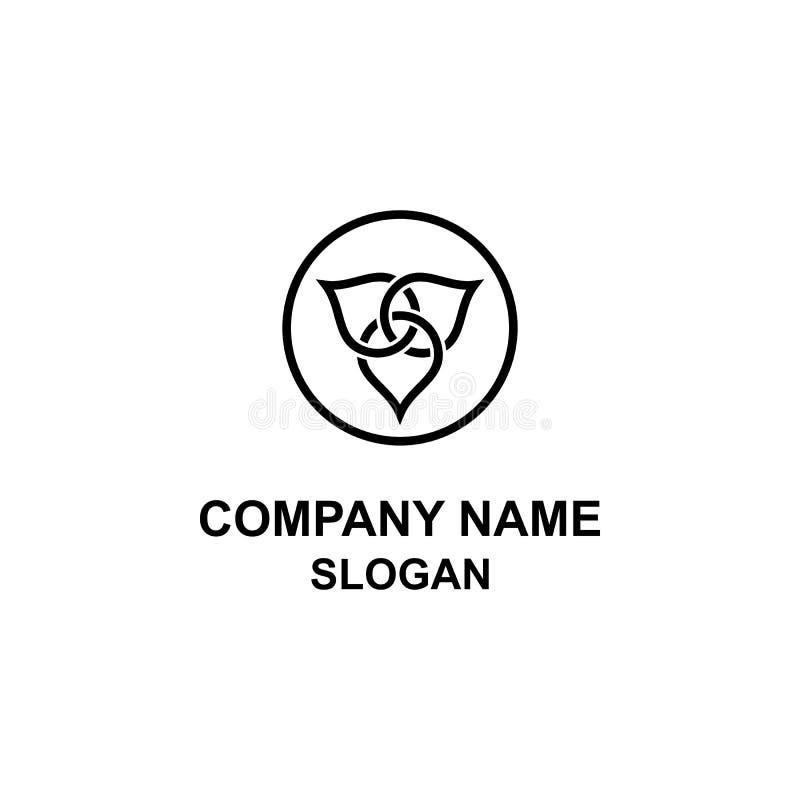 Logotipo único del círculo del triángulo stock de ilustración
