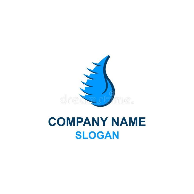Logotipo único del icono del descenso del agua stock de ilustración