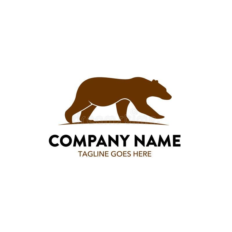 Logotipo único del oso libre illustration