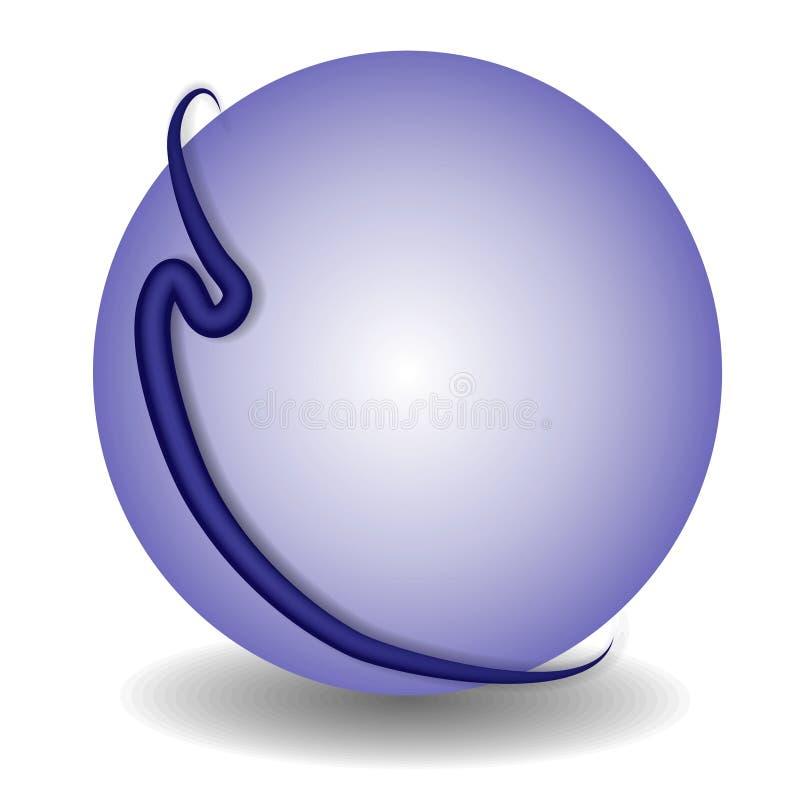 Logotipo 2 do Web site do círculo do globo ilustração royalty free
