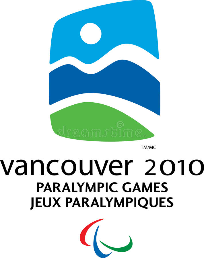 Logotipo 2010 de Vancôver Paralympic ilustração do vetor