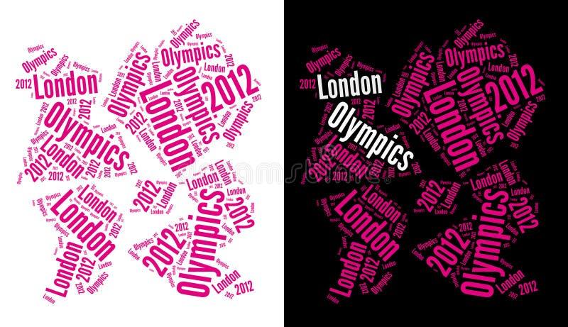 Logotipo 2012 dos Olympics de Londres ilustração do vetor