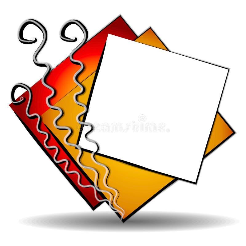Logotipo 3 do Web site da arte abstrata ilustração do vetor