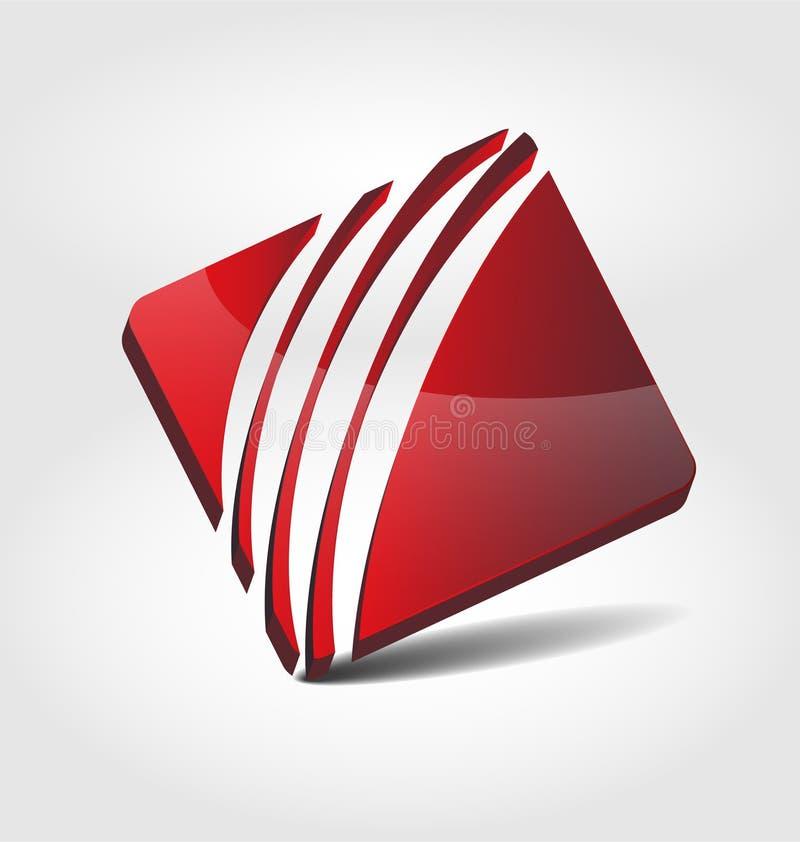 Logotipo 3D lustroso abstrato ilustração royalty free