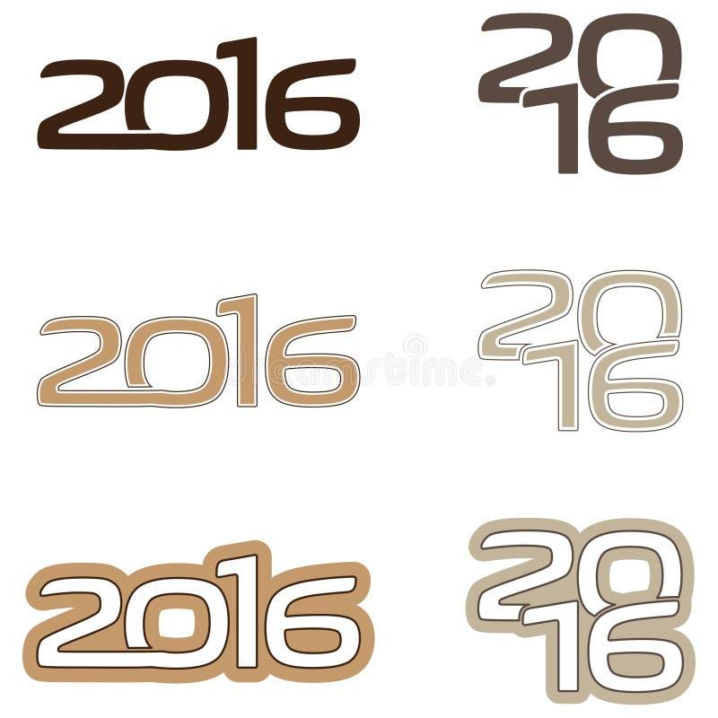 Logotipo 2016 imagen de archivo libre de regalías