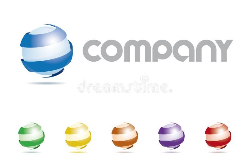 Logotipo Abstract Sphere Symbol Company stock de ilustración