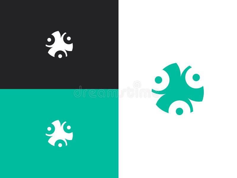 Logotipo abstracto aislado del vector Elemento decorativo de la flor stock de ilustración