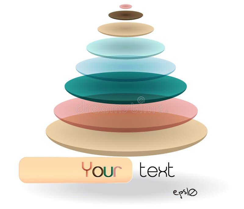 Logotipo abstracto brillante multicolor. stock de ilustración