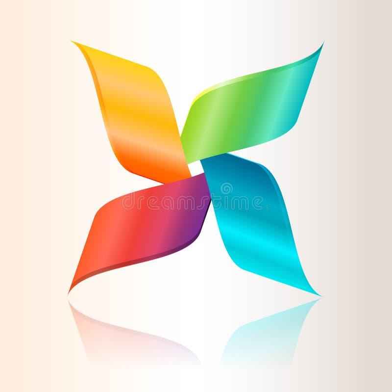 Logotipo abstracto colorido stock de ilustración
