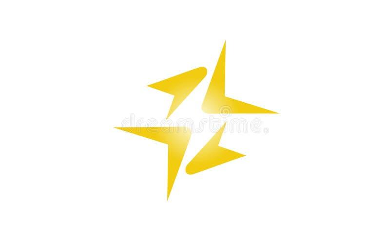 Logotipo abstracto creativo del trueno stock de ilustración