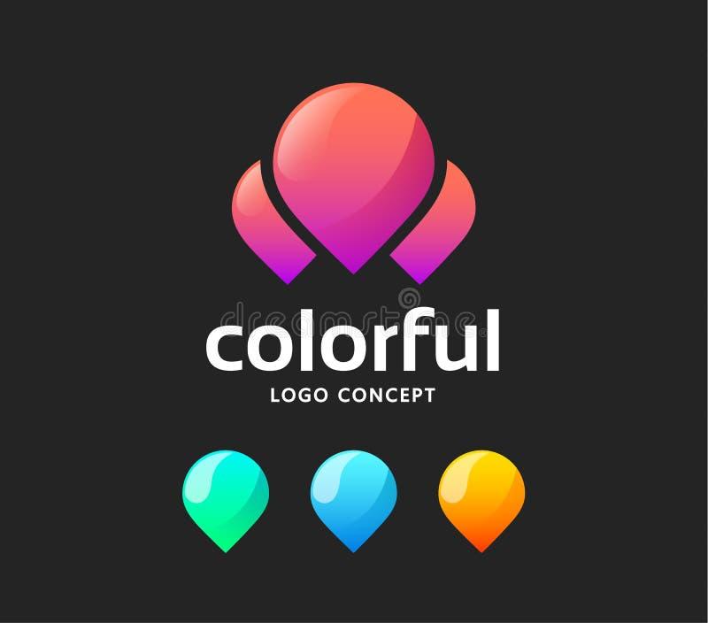 Logotipo abstracto creativo del vector ilustración del vector