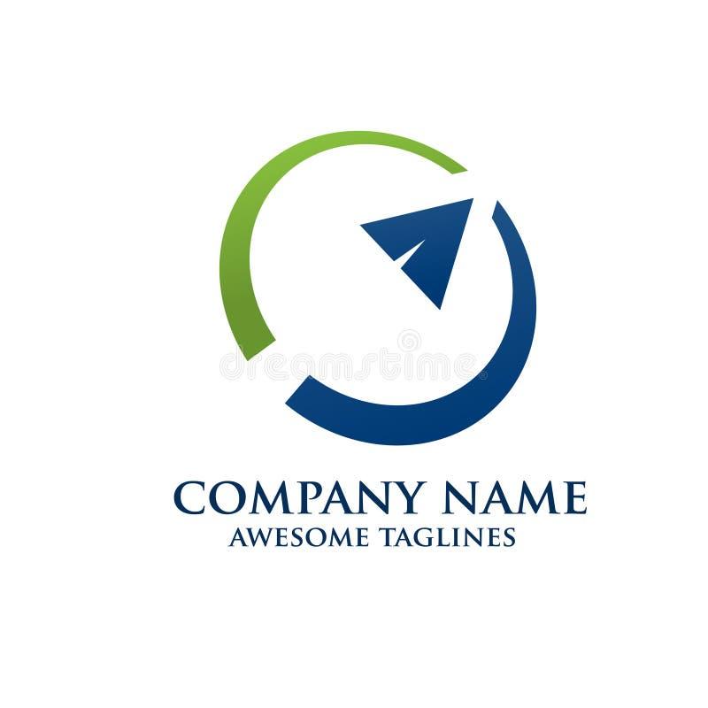 Logotipo abstracto de la consultoría de gestión de la flecha libre illustration