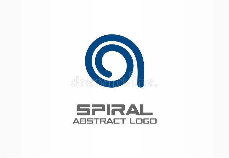 Logotipo abstracto de la empresa de negocios Elemento del diseño de la identidad corporativa Éntrenos en contacto con, medios soc stock de ilustración