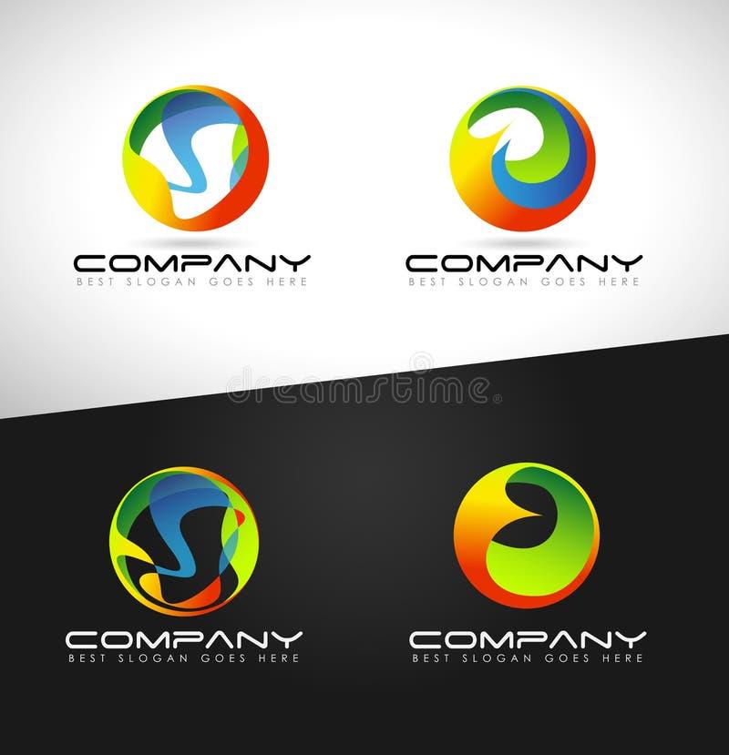 Logotipo abstracto de la esfera stock de ilustración