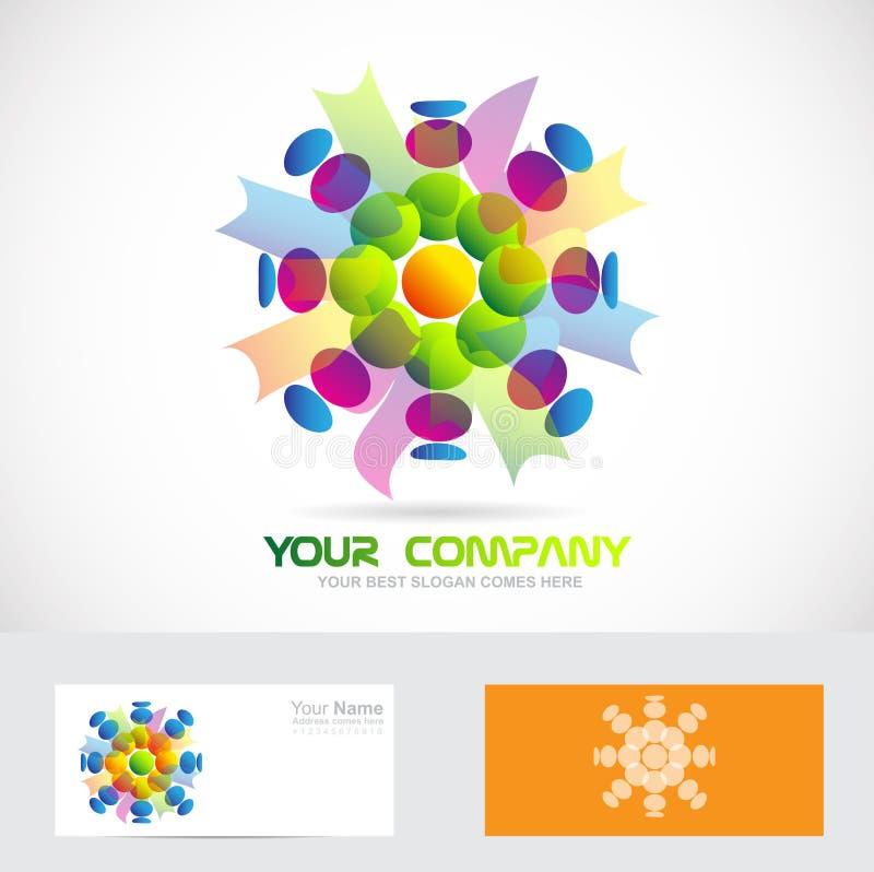 Logotipo abstracto de la flor ilustración del vector