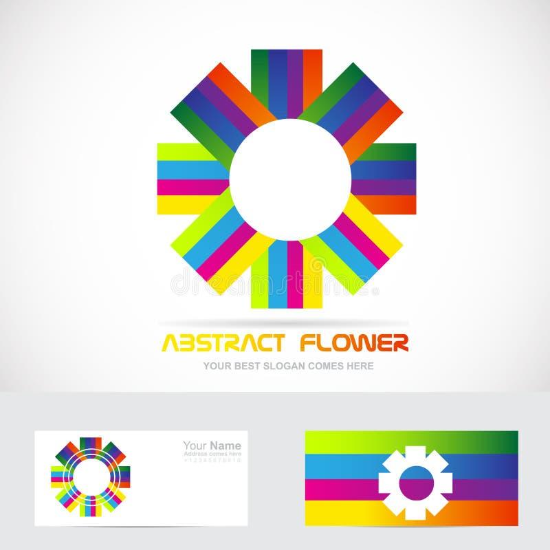 Logotipo abstracto de la flor stock de ilustración
