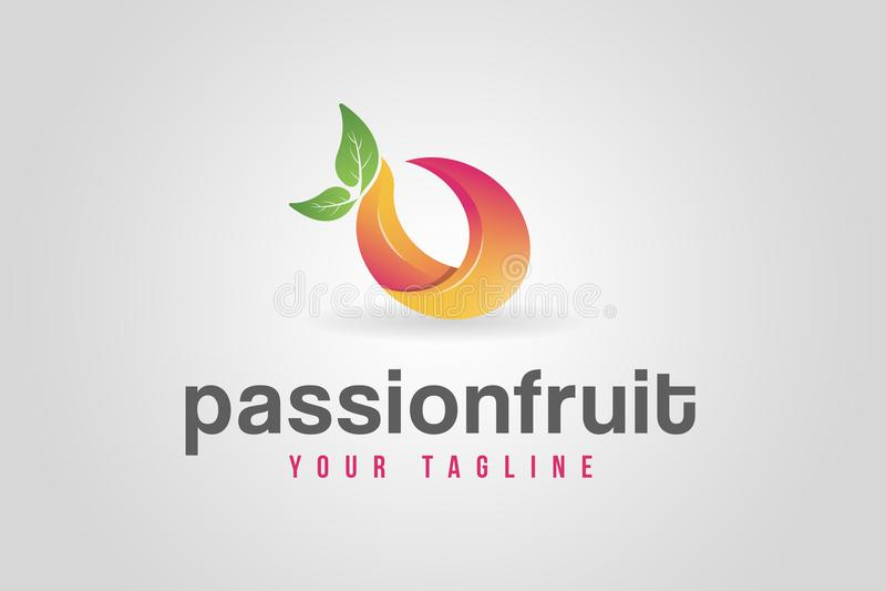 Logotipo abstracto de la fruta foto de archivo libre de regalías