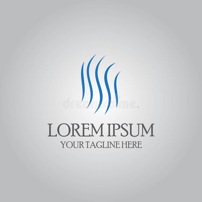 Logotipo abstracto de la hierba de la letra s libre illustration