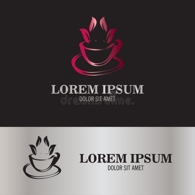 Logotipo abstracto de la infusión de hierbas imagen de archivo