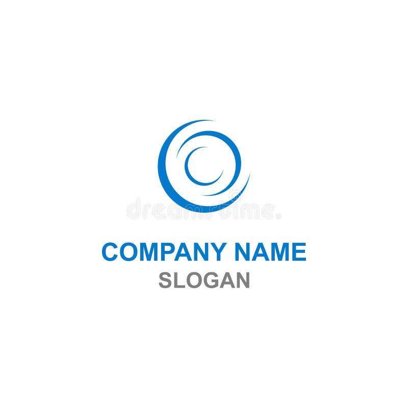 Logotipo abstracto de la inicial de la letra del círculo C stock de ilustración