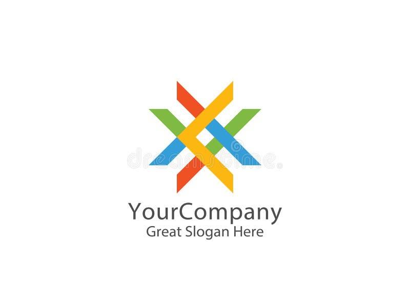Logotipo abstracto de la letra X concepto elegante del símbolo de la educación stock de ilustración