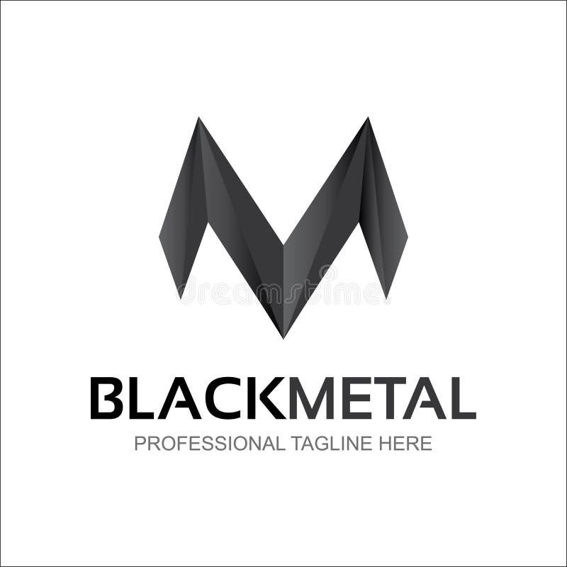 Logotipo abstracto de la letra de M M Brand Design ilustración del vector
