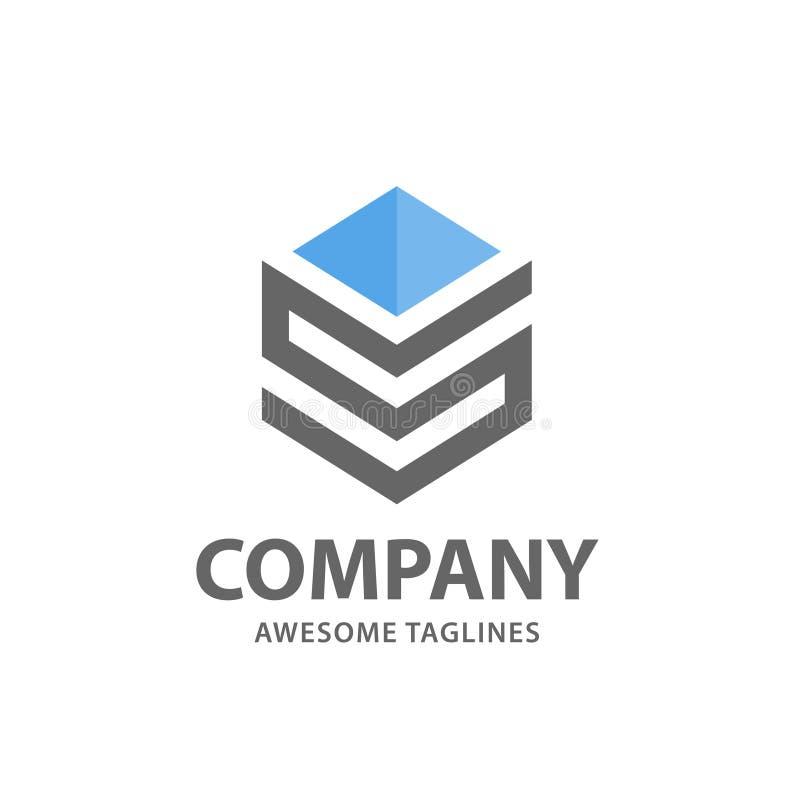 Logotipo abstracto de la letra S stock de ilustración