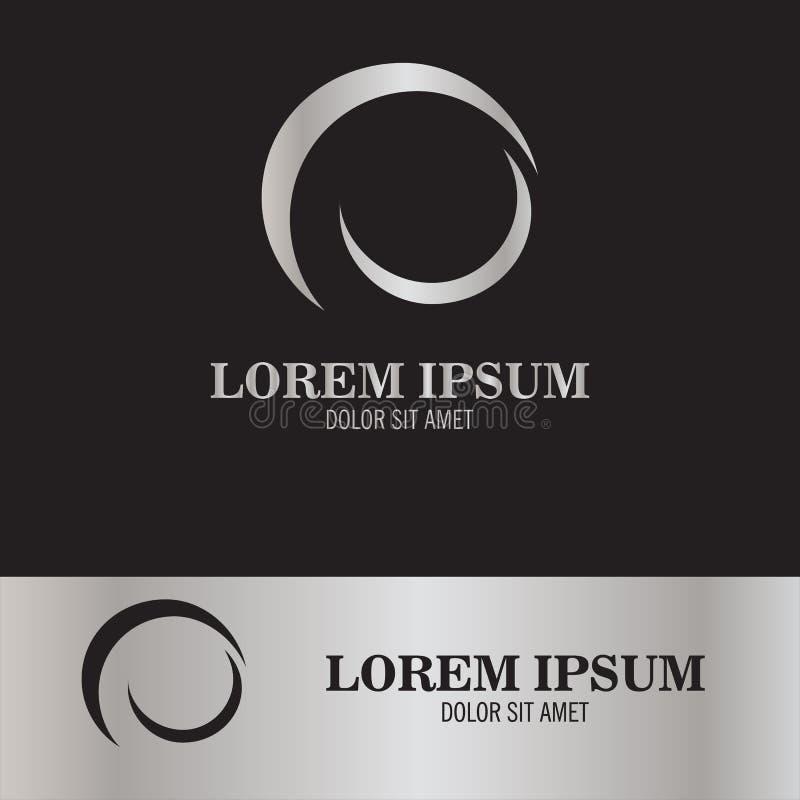 Logotipo abstracto de la luna ilustración del vector