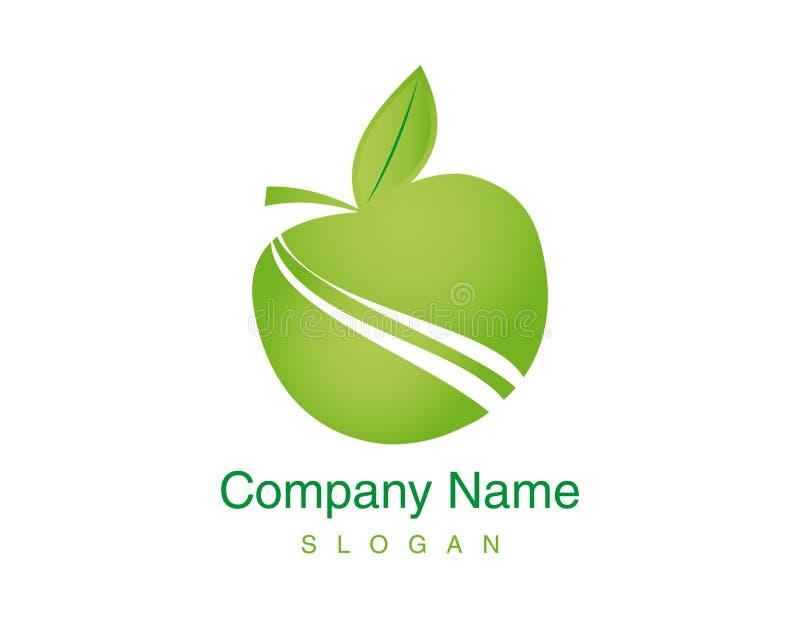 Logotipo abstracto de la manzana en un fondo blanco ilustración del vector