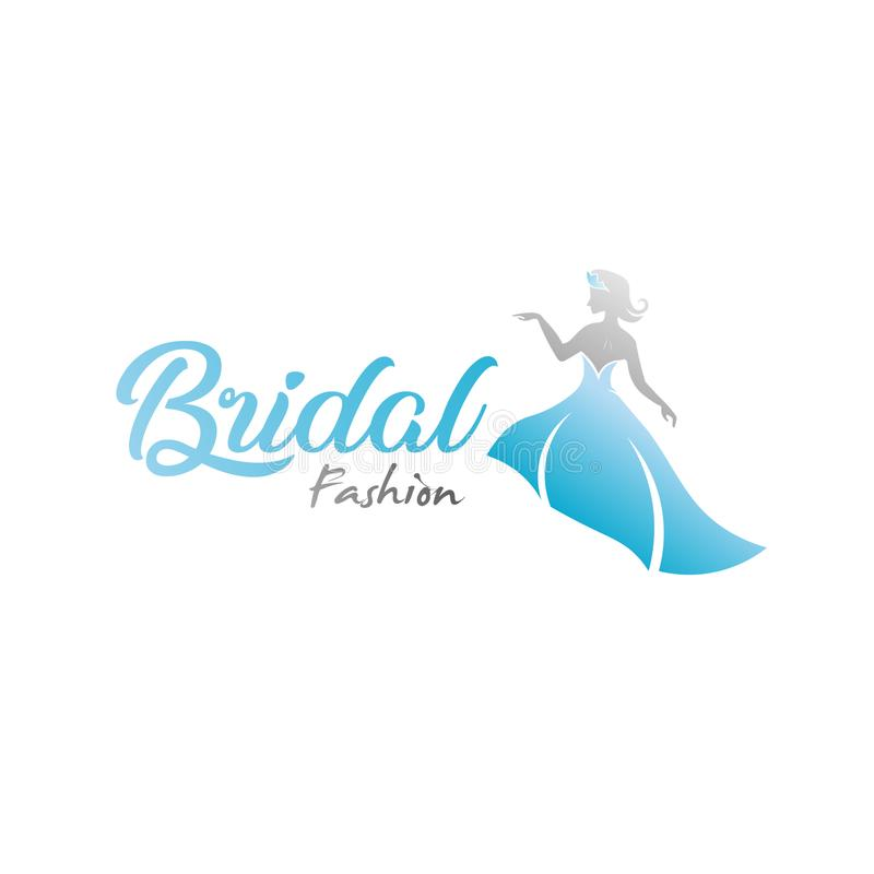 Logotipo abstracto de la marca de la moda nupcial libre illustration