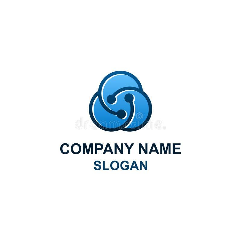 Logotipo abstracto de la nube del círculo stock de ilustración