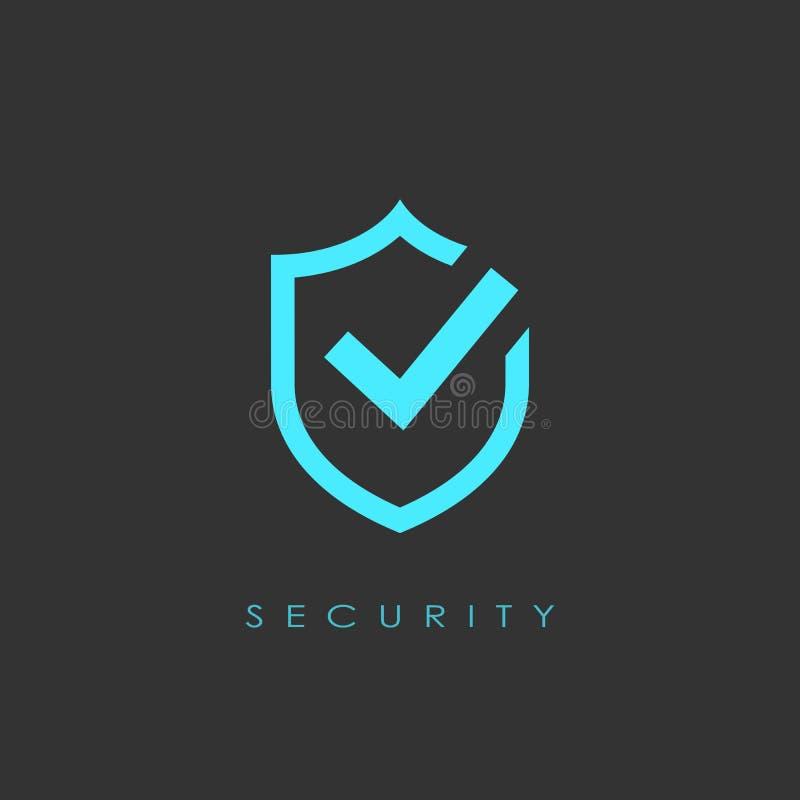 Logotipo abstracto de la seguridad ilustración del vector