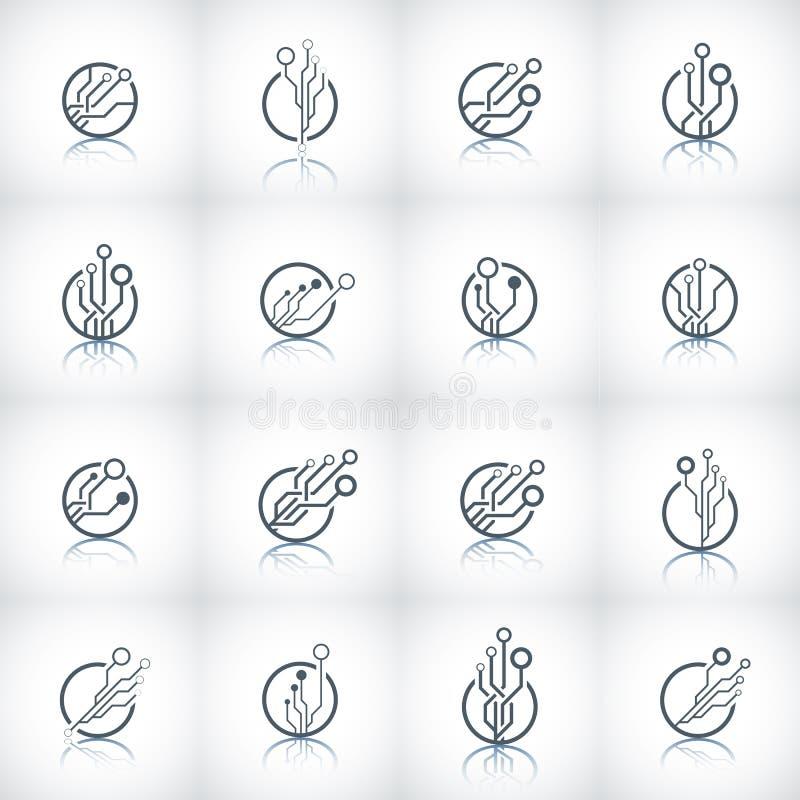 Logotipo abstracto de la tecnología ilustración del vector