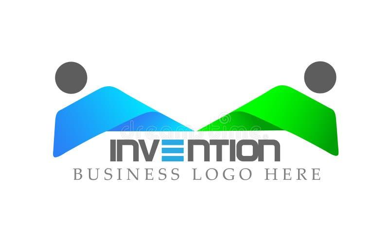 Logotipo abstracto de la unión de la gente en hombres de negocios invertidos corporativos del diseño del logotipo Icono del conce ilustración del vector